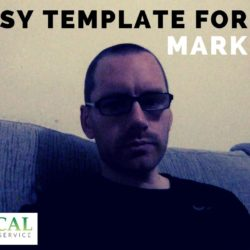 An Easy Template for your marketing